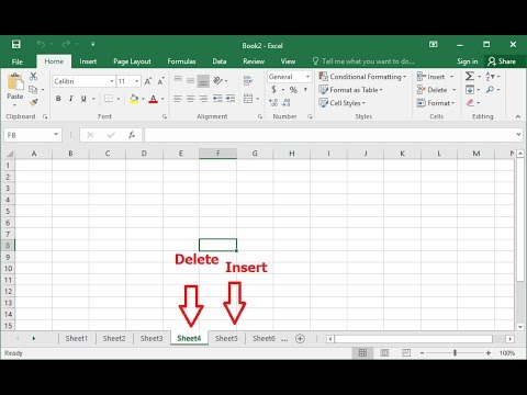 How to Insert & Delete Sheets in MS Excel by Shortcut Key-Hindi