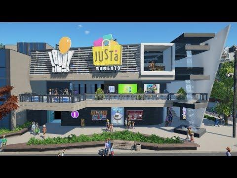 shopping mall - planet coaster - PlanCo CityWalk