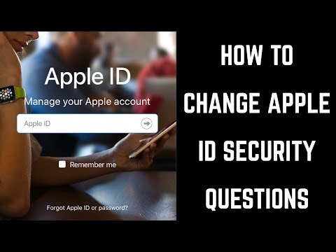 How to Change Apple ID Security Questions