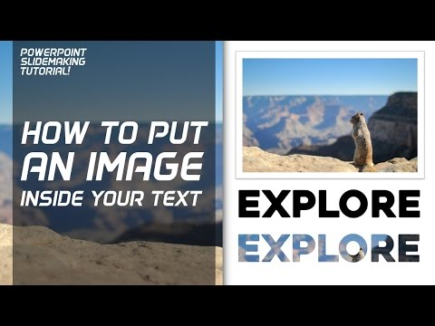 How to put an Image Inside Text! PowerPoint tutorial 2013  PowerPoint Pro
