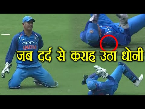 Ind Vs Aus 4th ODI: MS Dhoni cries in pain after getting injured | वनइंडिया हिंदी