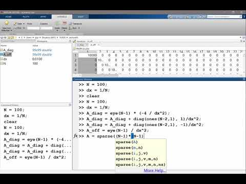 Solving the 2D Poisson's equation in Matlab