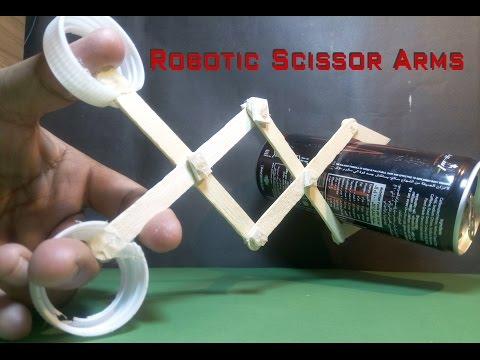 How to Make a Robotic Scissor Arms Using Popsicle Sticks | Creative Jahirul