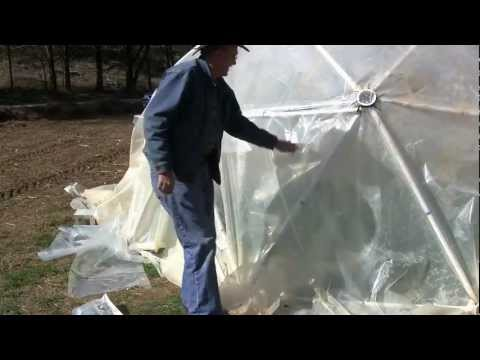 How to Make a Greenhouse Door for your Geodesic Dome
