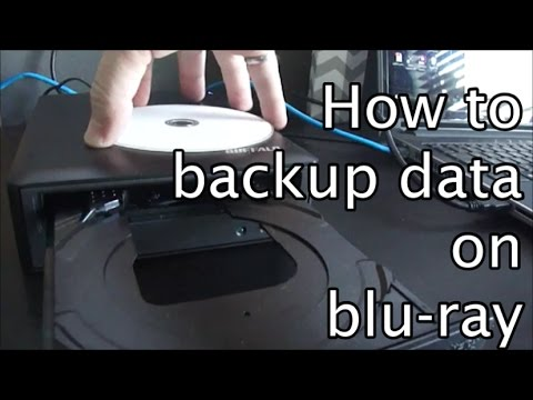 How to burn data to blu-ray for backup