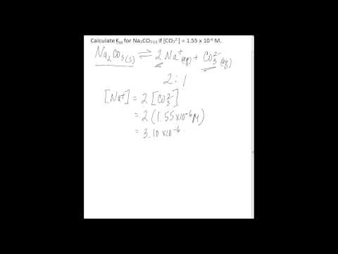 Calculate Ksp using one ion concentration