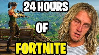 24 HOURS PLAYING FORTNITE!! (Awake For 2 Days) DAY 6 | JOOGSQUAD PPJT