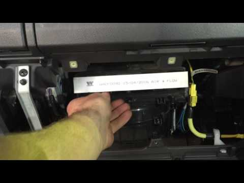 Isuzu D-MAX Cabin Air Conditioning Filter Replacement 2013