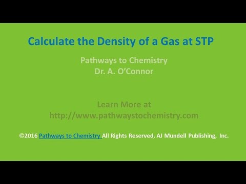 Calculate the Density of a Gas at STP