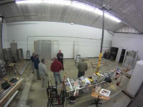 Walk-in cooler build time lapse. BLANK SLATE BREWING COMPANY.