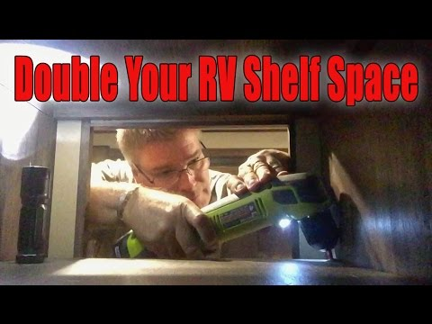 How to double the shelf space for your RV cabinets