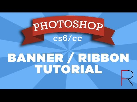 Banners & Ribbons Tutorial - Adobe Photoshop | RealFlame
