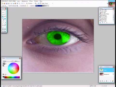 How to color your skin on paint.net.wmv