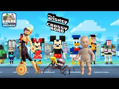 Disney Crossy Road - Go Go Super Suit, Babyhead and Big Baby (iOS/iPad Gameplay)