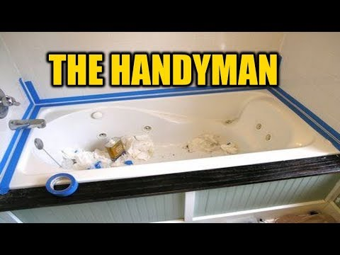 How To Caulk A Bathtub The Right Way | THE HANDYMAN |