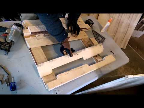 Bathroom sink with wood pallets