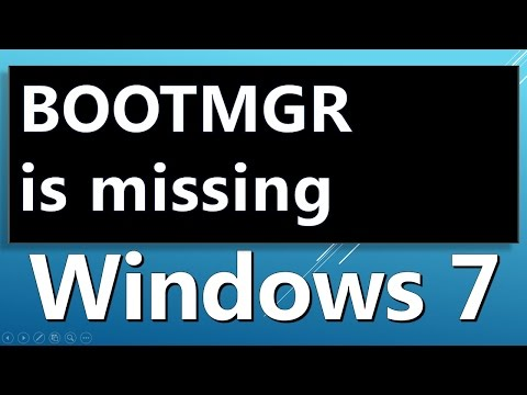BOOTMGR is missing  System Restore  HOW TO FIX