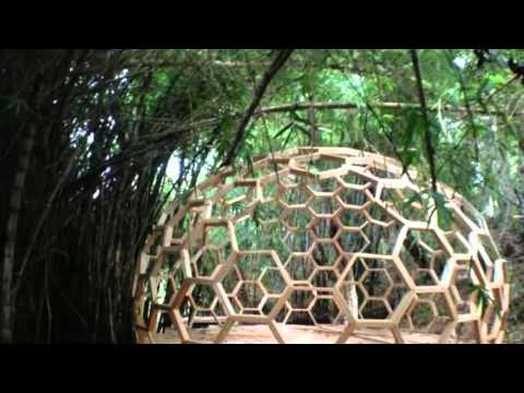 23ft Geodesic Dome made from Six Sided (Bucky Fuller Design) Wooden