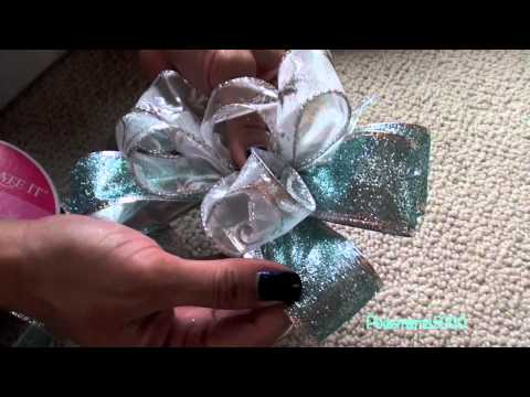 DIY-How to make a decorative bow tutorial! Holiday Decorating!