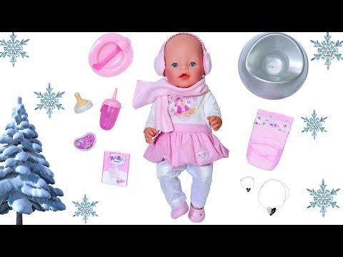 Baby Born Winter Edition Doll Unboxing Review & Baby Doll Bedroom Evening Routine