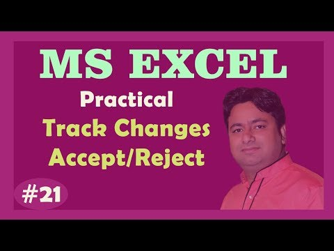 Day - 21 : Track changes in Excel and Accept - Reject changes Data Excel Tutorial by MANOJ SIR
