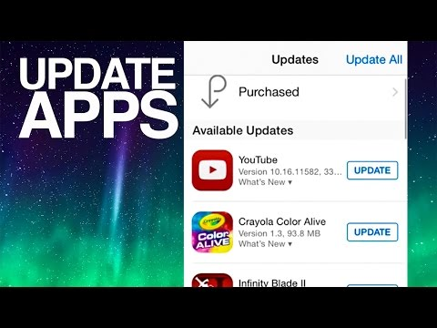 How to Update Apps in iPhone iPad iPod iOS 8