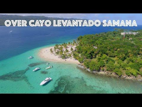 Over Cayo Levantado Samana (DRONE SHOTS IN PUNTA CANA)