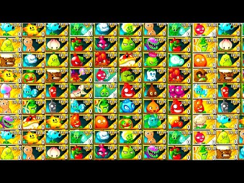 Every Premium Plants Showcase in Plants vs Zombies 2 Gameplay All Plants Power UP vs Knight Zombies