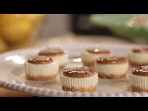 Salted Caramel Cheesecake Minis Recipe | PHILADELPHIA Cream Cheese