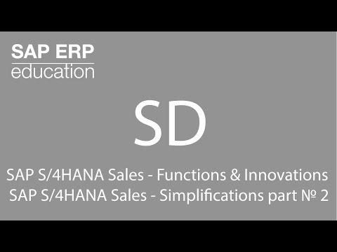 SAP S/4HANA Sales  Functions & Innovations SAP S/4HANA Sales  Simplifications