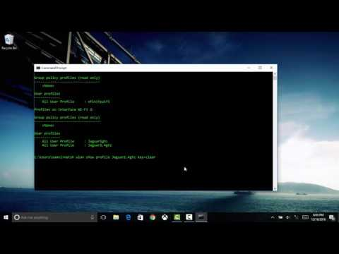 How to find your wifi password fast on Windows using CMD (2018)