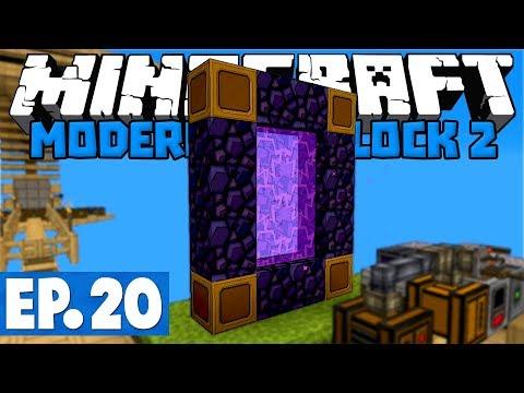 Minecraft Modern Skyblock 2 - Smeltery & Broken Nether Portal! #20 [1.12.2 Modded Skyblock]