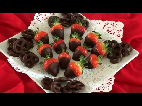 Chocolate Covered Strawberries and Pretzels