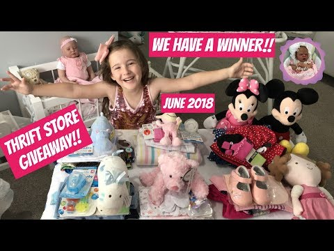 MONTHLY THRIFT STORE GIVEAWAY! JUNE 2018! WE HAVE A WINNER!