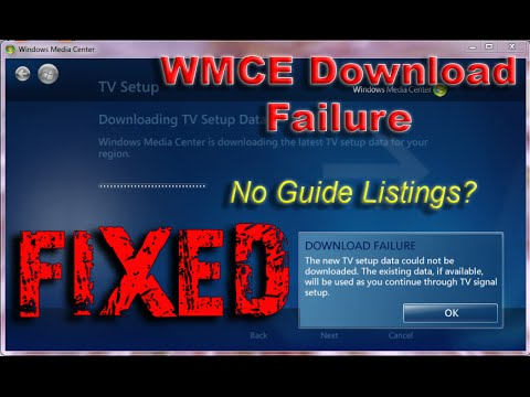 Windows Media Center Download Failure -  Fix - Solved