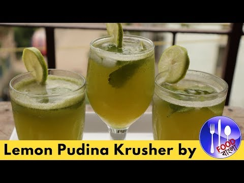 লেমন পুদিনা ক্রাশার | Lemon Pudina Krusher | Lemon Mint Krusher Recipe