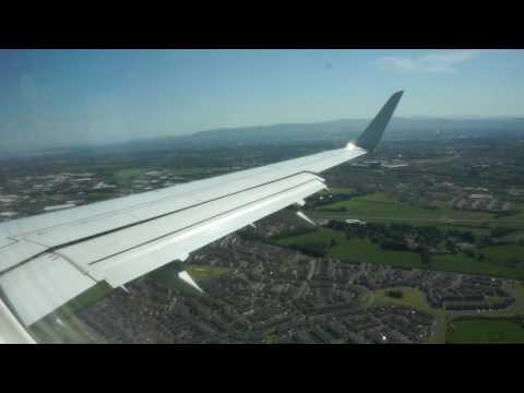 Dublin Approach and Landing Video by British Airways Embraer 170