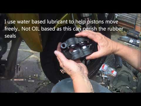 Honda CB1000R Brake Pad replacement and Caliper Maintenance