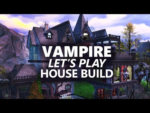 The Sims 4 House Building   VAMPIRE LET'S PLAY HOUSE  1/2
