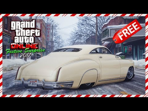 GTA Online Festive Surprise 2017 DLC NEW Car Details - FREE Vehicle Info, Snowfall & Christmas Gift!