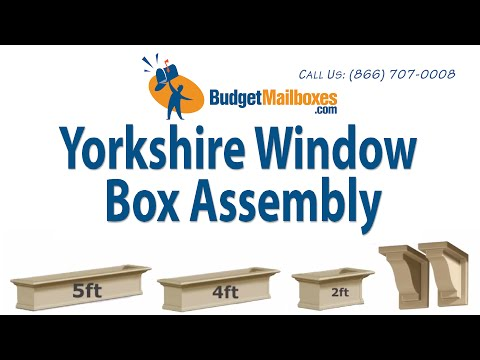 BudgetMailboxes.com | Mayne Post | Yorkshire Window Box Assembly