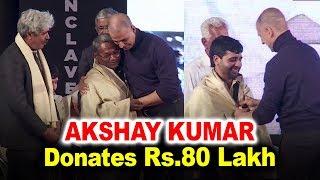 Akshay Kumar Sweetest Gesture For Indian Innovators   Donates Rs.80 Lakh
