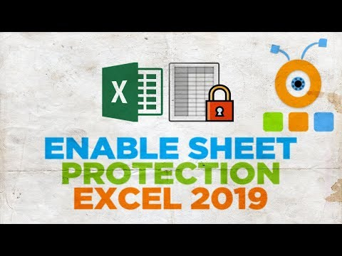 How to Enable Sheet Protection in Excel 2019   How to Protect a Sheet in Excel 2019