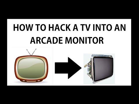 how to hack a TV into an ARCADE monitor