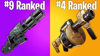 RANKING LEGENDARY FORTNITE WEAPONS FROM WORST TO BEST