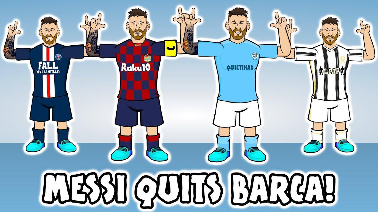 😲MESSI QUITS BARCA!😲 Man City? PSG? Man Utd? Juventus? (Transfer Request Song)