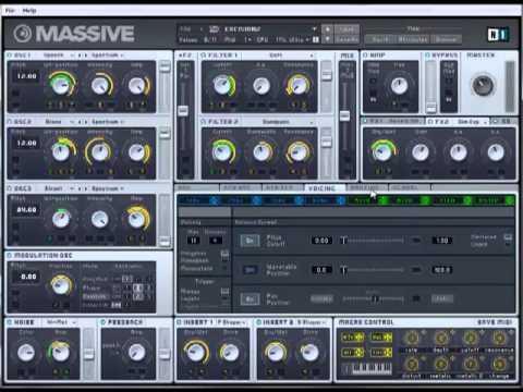 skrillex / datsik / excision style dark dubstep wobble bass tutorial - NI Massive.
