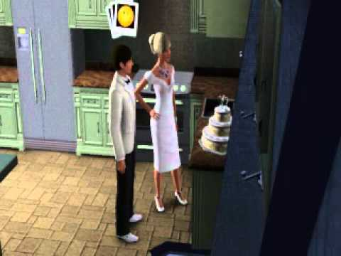 The Sims 3 - Wedding Day part 3 Cutting The Cake