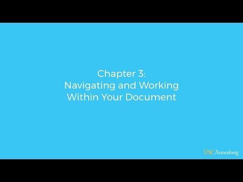 Module 2, Chapter 3: Navigating and Working Within Your Document