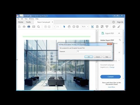 Third Generation imageRUNNER ADVANCE How to Video - Encrypted PDF and Device Signature PDF